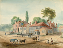 The old Five Bells Inn, New Cross, 1840